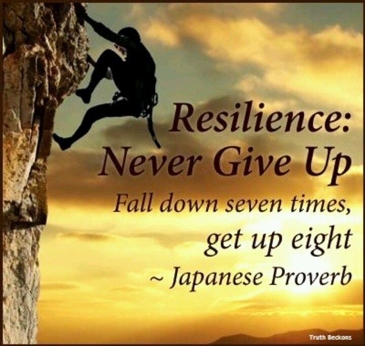 Resilience never give up