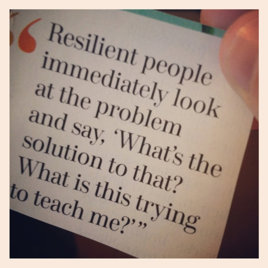 Resilient people are solutions focused