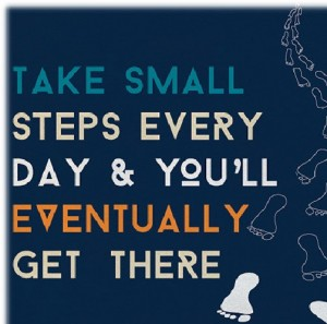 Every small step