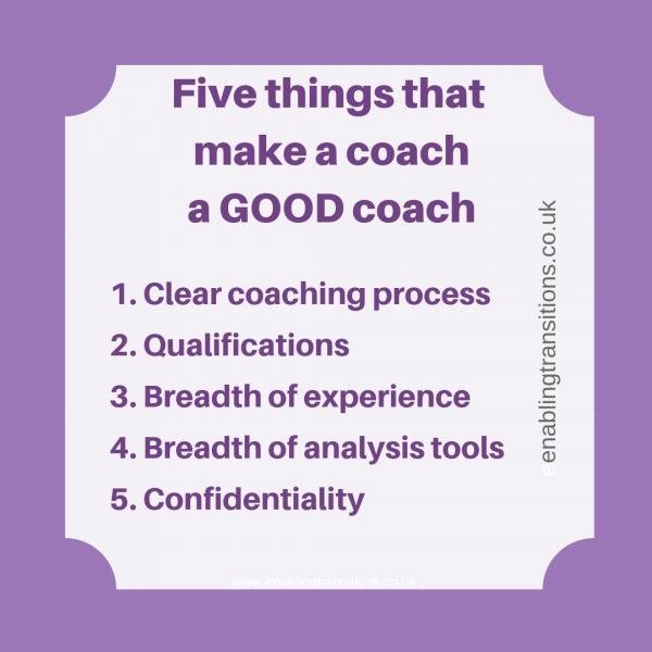 5 things that make a good coach