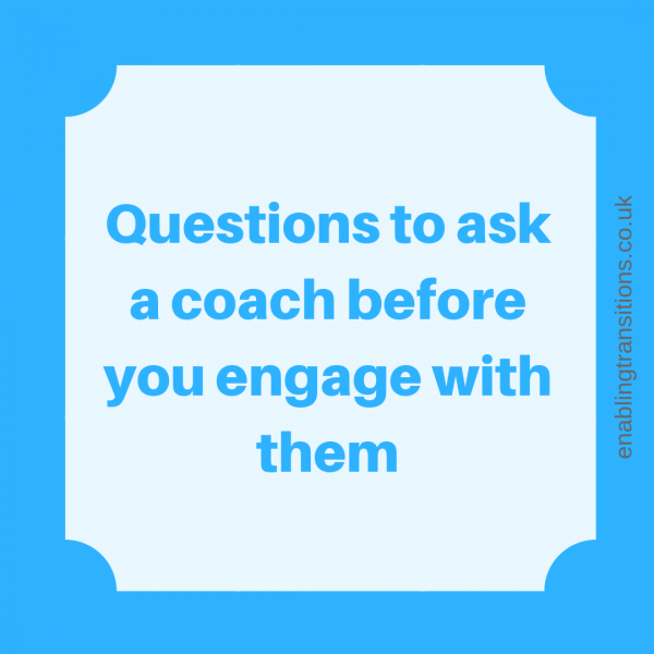 Questions to ask a coach